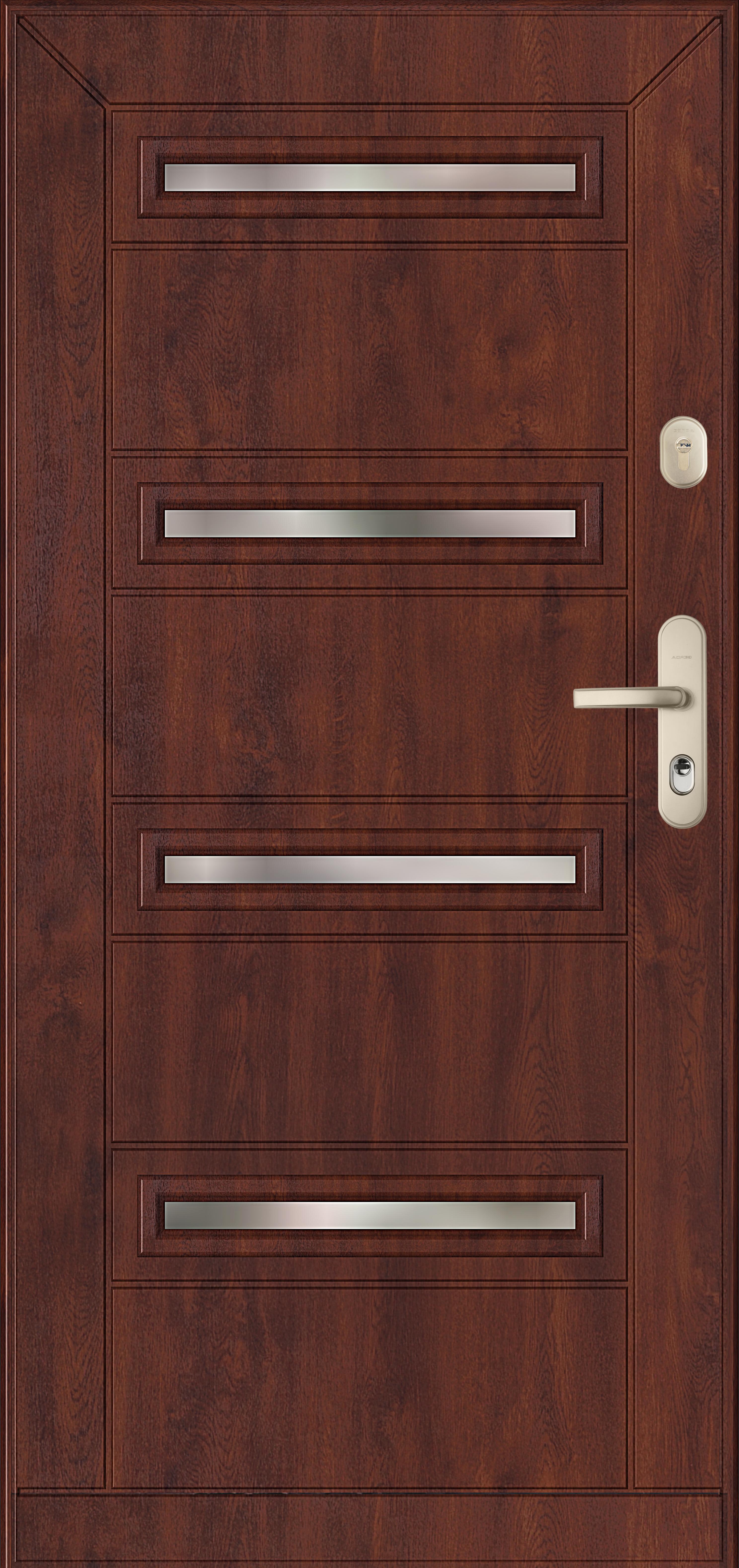 drzwi Gerda wzór SE4 GRANADA, drzwi przeszklone antywłamaniowe- 4 poziome szybki