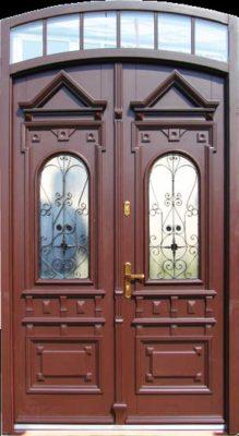 dwuskrzydłowe drzwi wejściowe na wymiar