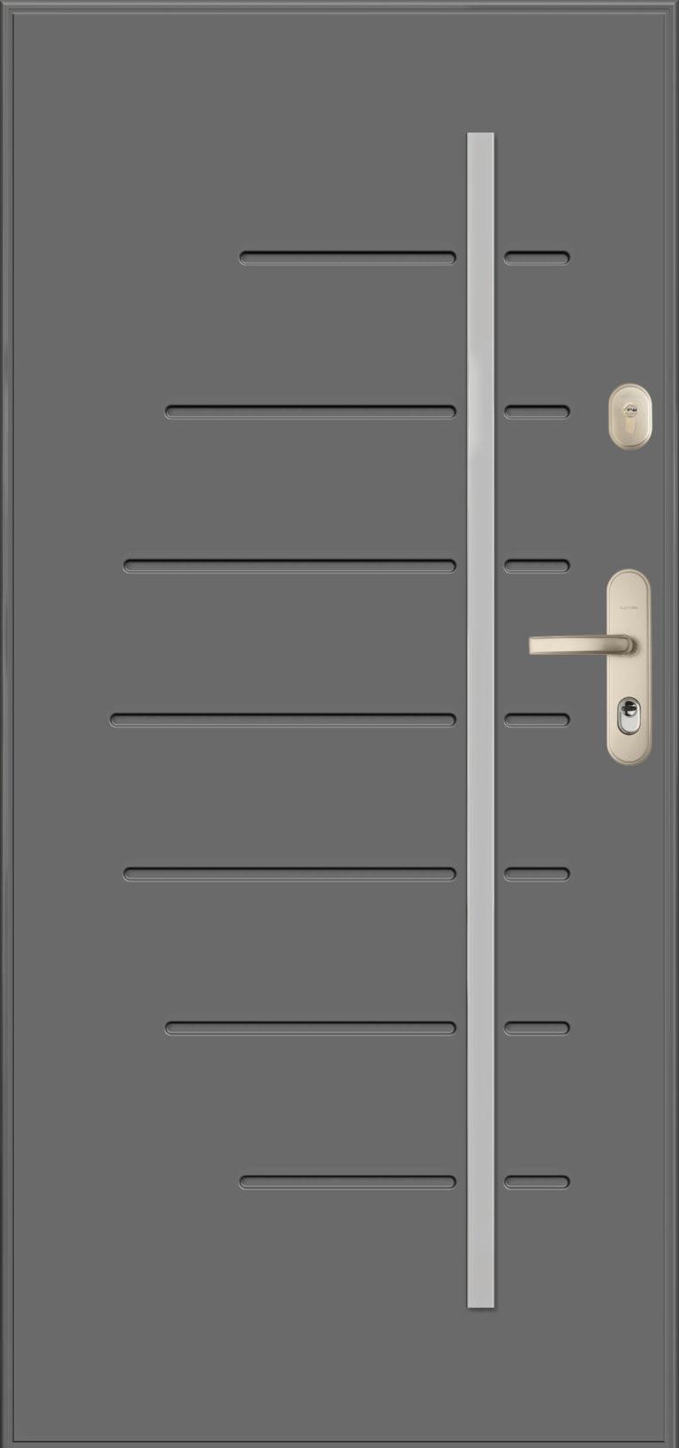 Gerda wzór PLS HEL, antywłamaniowe klasy RC3 (wersja CX20), kolor szary
