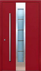 AL7 aluminiowe przeszklone, z wstawką inox, drzwi wykonywane na wymiar
