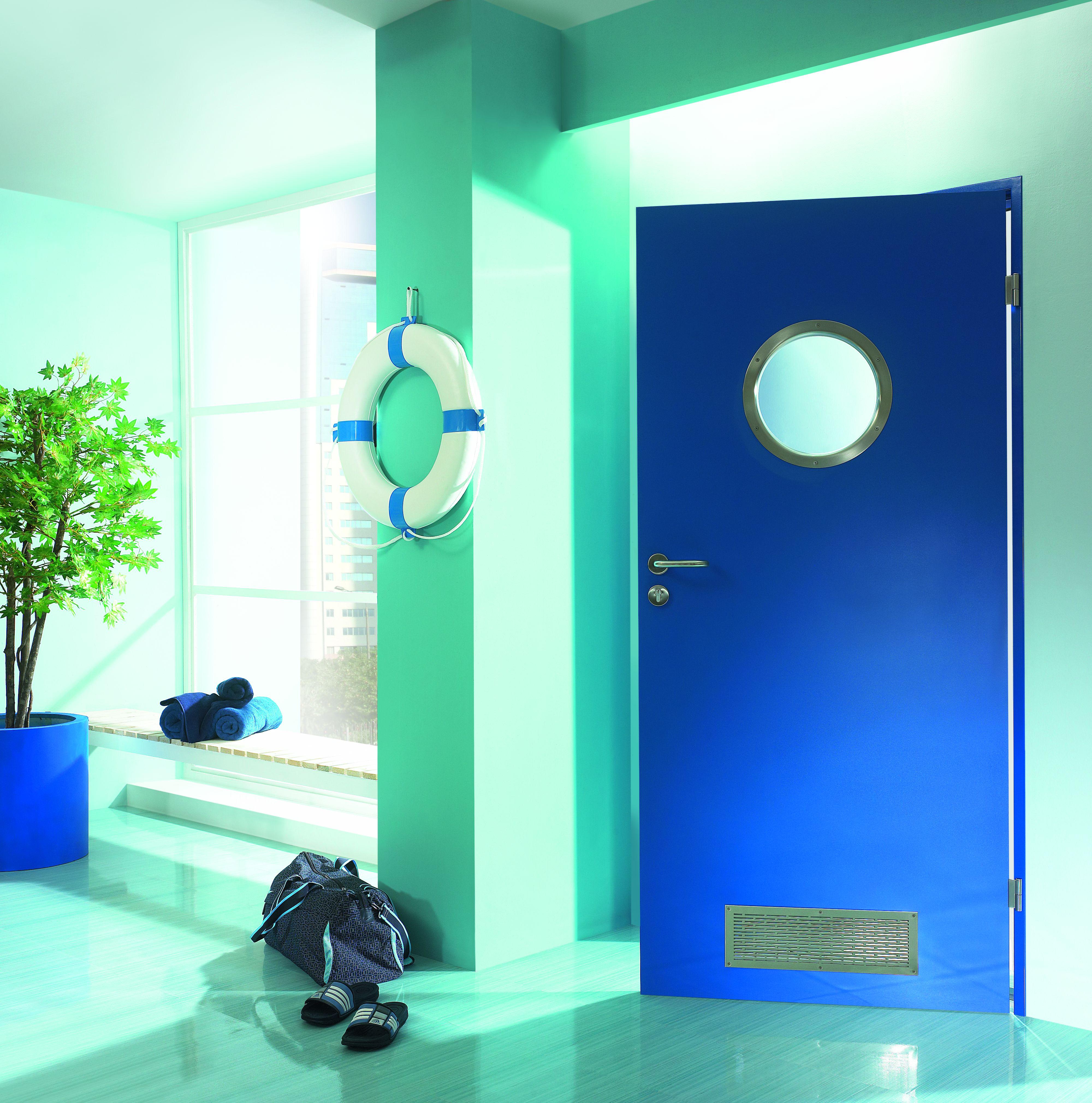 AQUA drzwi odporne na zawilgocenia, lakierowane proszkowo farbą podkładową Ral 5005