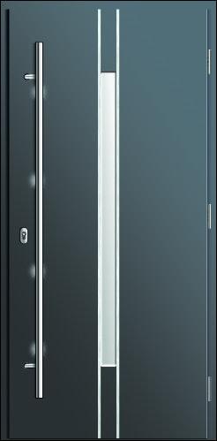 drzwi wodoodporne wejściowe Diplomat 14, kolor antracyt