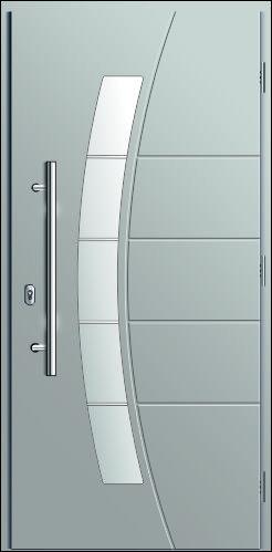 drzwi odporne na warunki atmosferyczne, kompozytowe, wzór Diplomat 2H, w kolorze szarym
