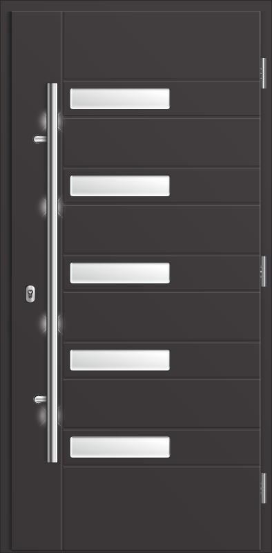 kompozytowe drzwi zewnętrzne Diplomat 53, w kolorze szary antracyt