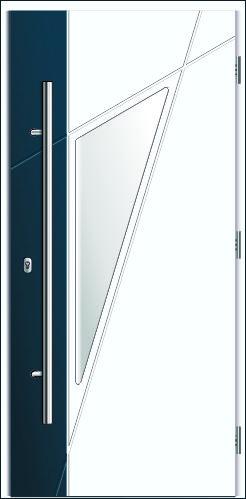 dwukolowrowe drzwi kompozytowe, Diplomat 8C, klor biały i antracyt