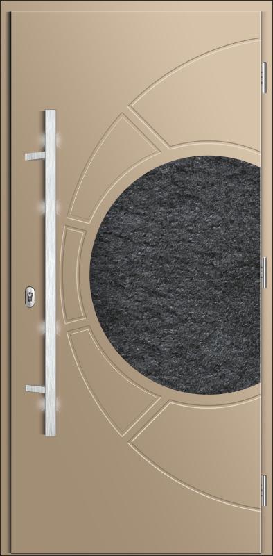 drzwi kompozytowe malowane w kolorze z palety Ral, drzwi z pochwytem