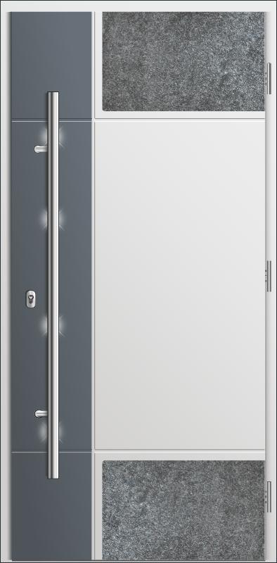 drzwi dwukolorowe plus aplikacja z kamienia, Diplomat C1- kolekcja Stone