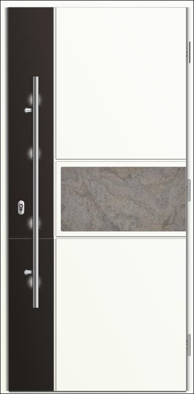 drzwi wejściowe z pochwytem, Diplomat C2 - kolekcja Stone