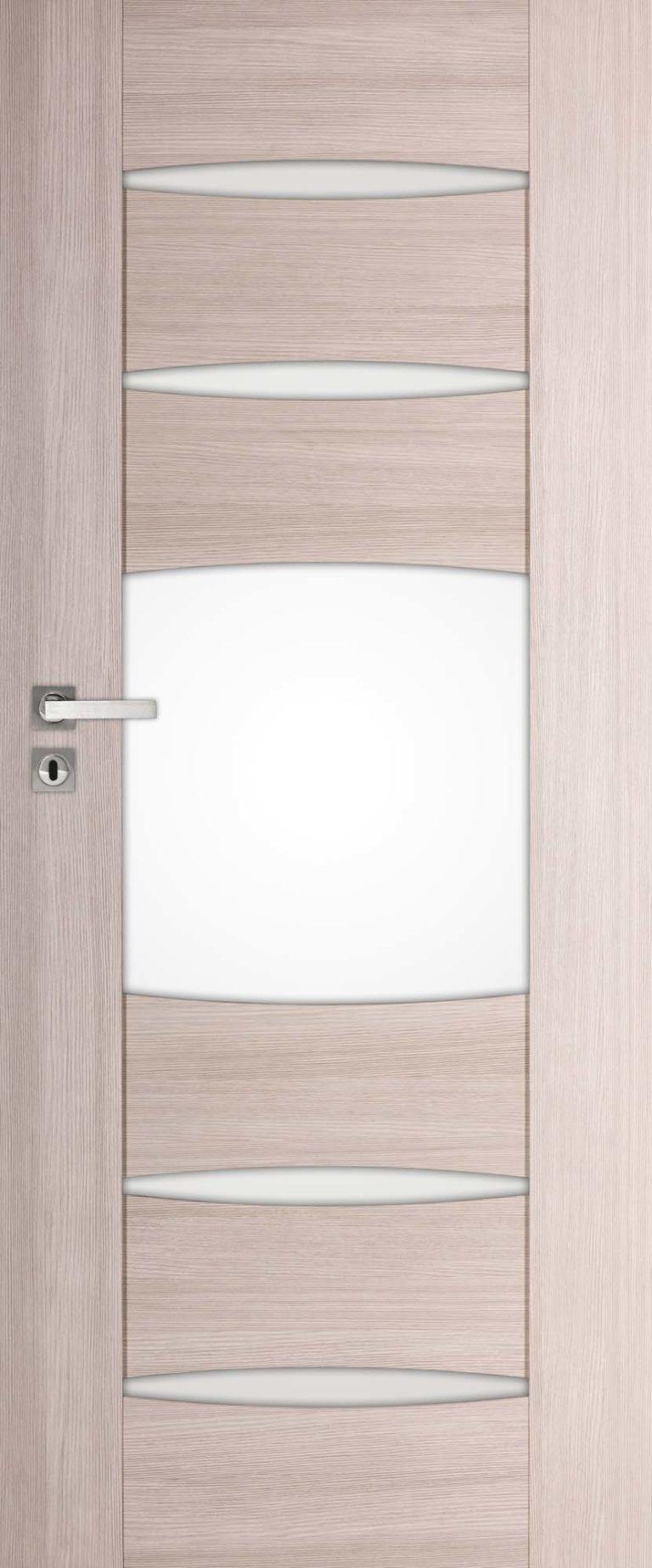 drzwi z zaokrąglonymi przeszkleniami, szyba matowa
