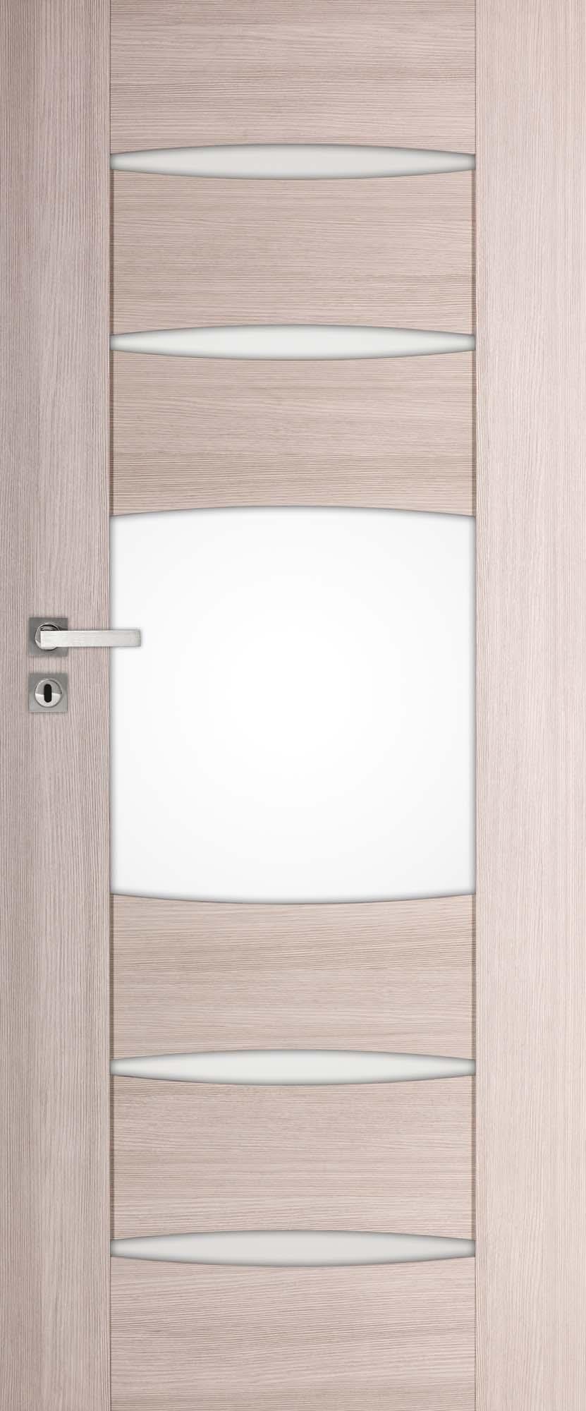 ENA 3, kolor dąb bielony ryfla, drzwi przylgowe lub bezprzylgowe z zamkiem magnetycznym