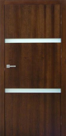HAGA 2 - nowoczesne drzwi z drewna, szkło zlicowane z powierzchnią skrzydła