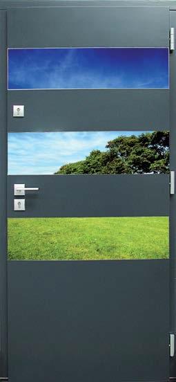 drzwi drewniane, wzór Jan, antracyt, poziome aplikacje