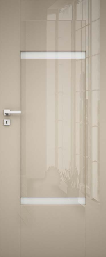 drzwi w połysku metalic w kolorze cubanit, szyba matowa, drzwi tylko bezprzylgowe, model NELLA 4 Dre