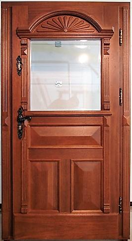 rekonstrukcja drzwi dębowych - pałac w Pomorskim , stylowa klamka, dodatkowy zamek, szyba antywłamaniowa