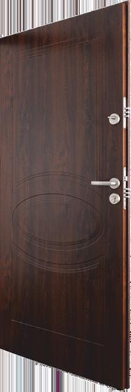 drzwi wejściowe do mieszkania, Eko-nova, kolor orzech ciemny, grubość skrzydła 52mm, dobra cena