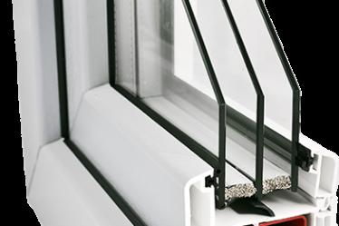 energooszczędne okno Gealan S 9000 w kolorze białym, 3 szyby, ciepła ramka