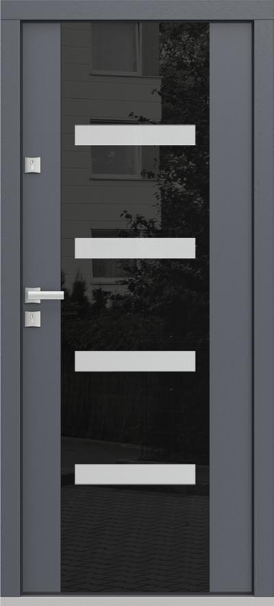 Eco Polar Passive C4 antracyt panel szklany obustronny