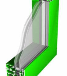 przekrój systemu aluminiowego Imperial, kolor z palety Ral