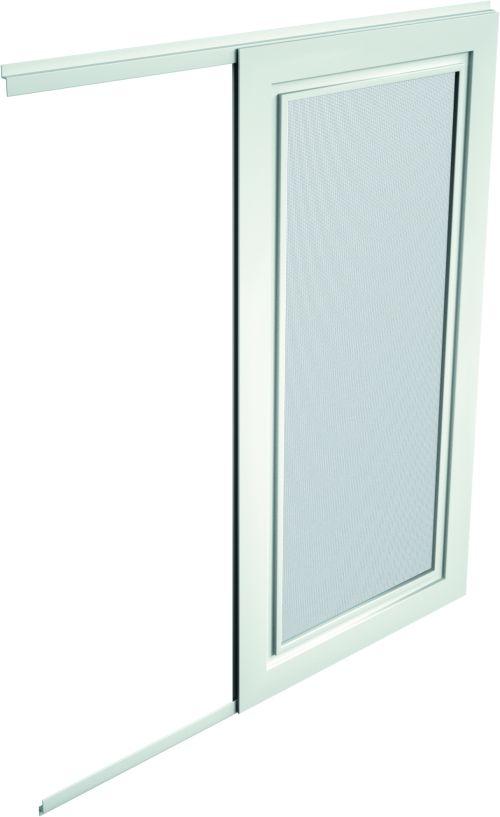 moskitiera ramowa przesuwna w kolorze białym na okno lub na otwór drzwiowy