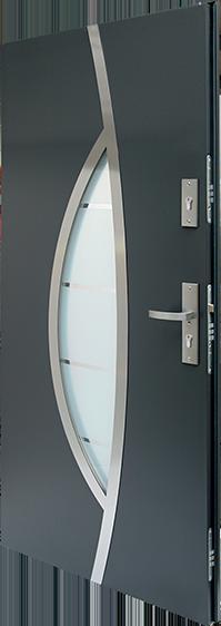 drzwi stalowe Plus 11s6 antywłamaniowe kl-2, szyba antywłamaniowa P4
