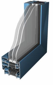 profil aluminiowy Superial, potrójna szyba zespolona