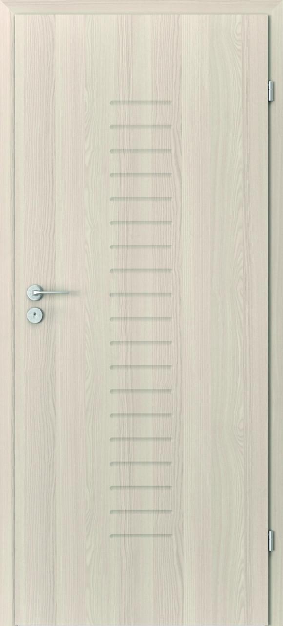 Porta Focus1B, okleina orzech bielony, frezowane
