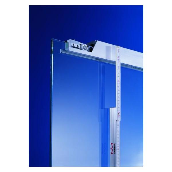 AGILE 50, system do drzwi szklanych przesuwnych niedużych do 50 kg, jedno i dwuskrzydłowych