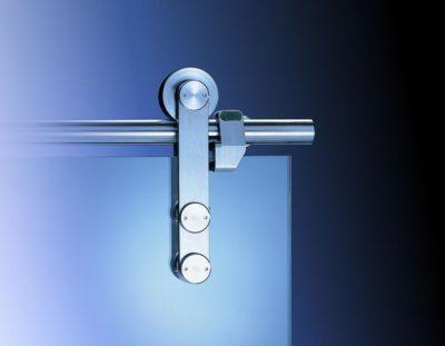 system przesuwny MANET, wykonany ze stali nierdzewnej, okrągła szyna, waga drzwi do 100 kg