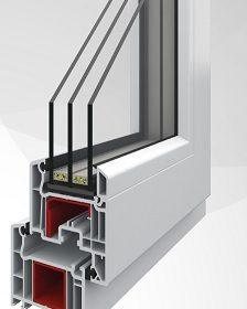 biały profil okna pcv