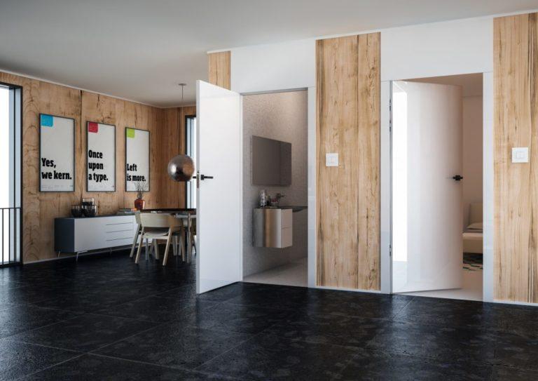 drzwi z odwrotną przylgą -drzwi otwarte