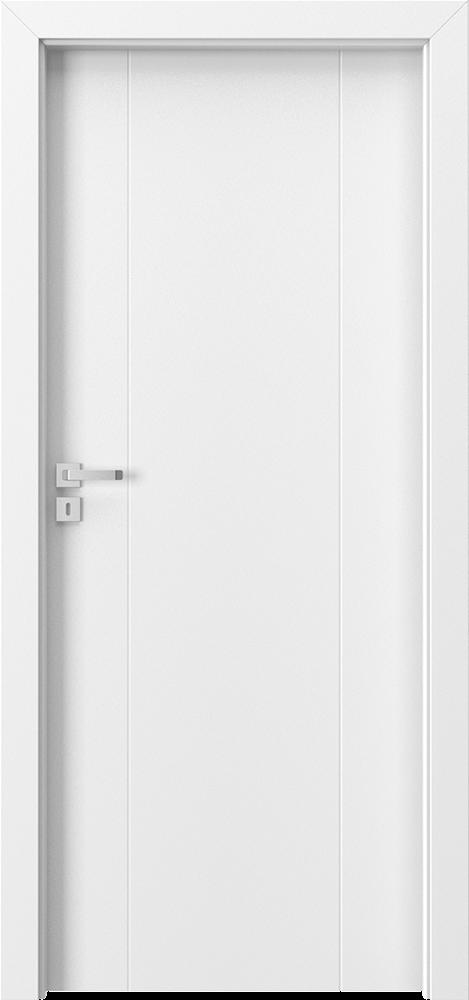 drzwi lakierowane dwa pionowe delikatne frezy