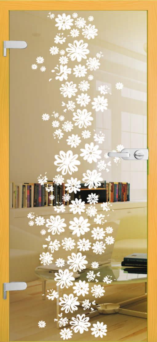 gerbery kwiaty na przezroczystej tafli