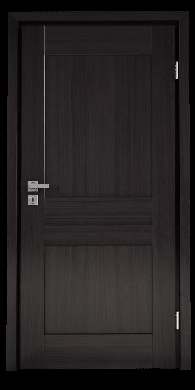 wewnętrzne drzwi z drewna, w ciemnym kolorze