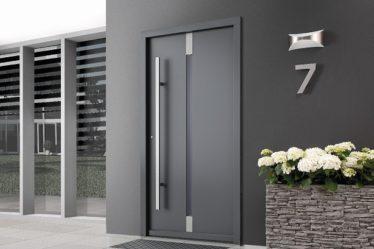 bardzo ciepłe drewniane drzwi Porty do budynku