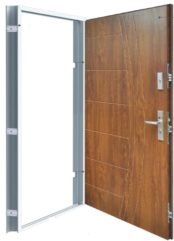 dźwiękochłonne drzwi stalowe