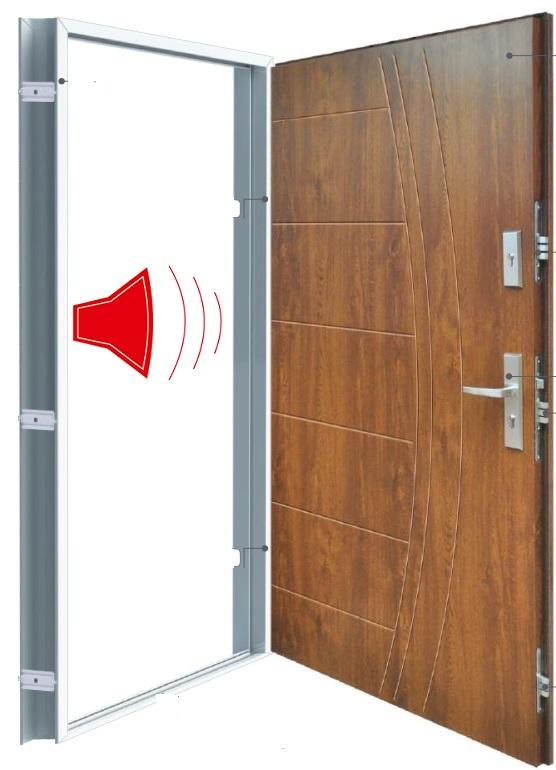 Dźwiękochłonne drzwi stalowe 43 dB